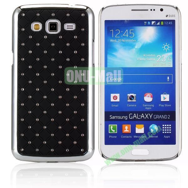 Starry Sky Stars Pattern Aluminum Hard Shell Case for Samsung Galaxy Grand 2  G7106 (Black)