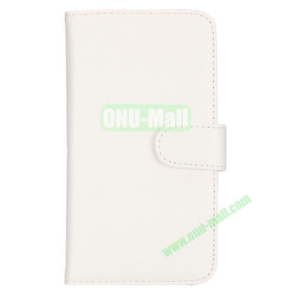 Lichee Texture Wallet Style Flip Leather Case for Samsung Galaxy Grand 2 /G7106 /G7108 (White)
