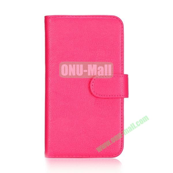 Lichee Texture Wallet Style Flip Leather Case for Samsung Galaxy Grand 2 /G7106 /G7108 (Pink)