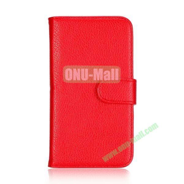 Lichee Texture Wallet Style Flip Leather Case for Samsung Galaxy Grand 2 /G7106 /G7108 (Red)