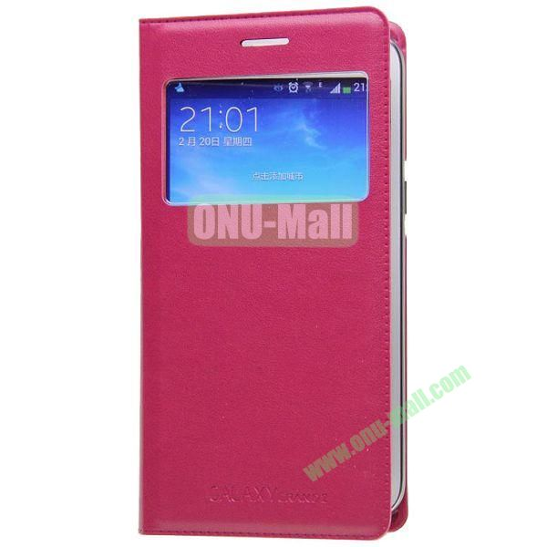 Business Type Flip Leather Case for Samsung Galaxy Grand 2 G7106 with Call ID Display and Chip (Red)