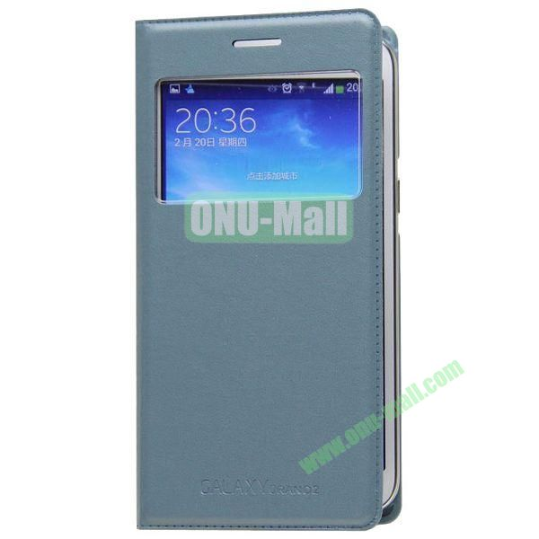 Business Type Flip Leather Case for Samsung Galaxy Grand 2 G7106 with Call ID Display and Chip (Grey)