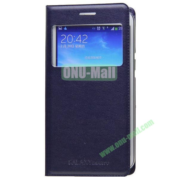 Business Type Flip Leather Case for Samsung Galaxy Grand 2 G7106 with Call ID Display and Chip (Blue)