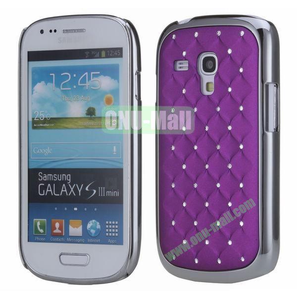 Bling Bling Diamond Stars Sky Hard Case Cover for Samsung SIII MiniI8190  ( Purple )