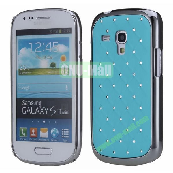 Bling Bling Diamond Stars Sky Hard Case Cover for Samsung SIII MiniI8190  ( Blue )