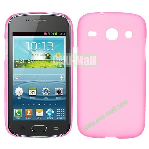 Frosted Design TPU Case For Samsung Galaxy Core i8260 i8262 (Pink)