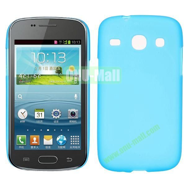 Frosted Design TPU Case For Samsung Galaxy Core i8260 i8262 (Light Blue)