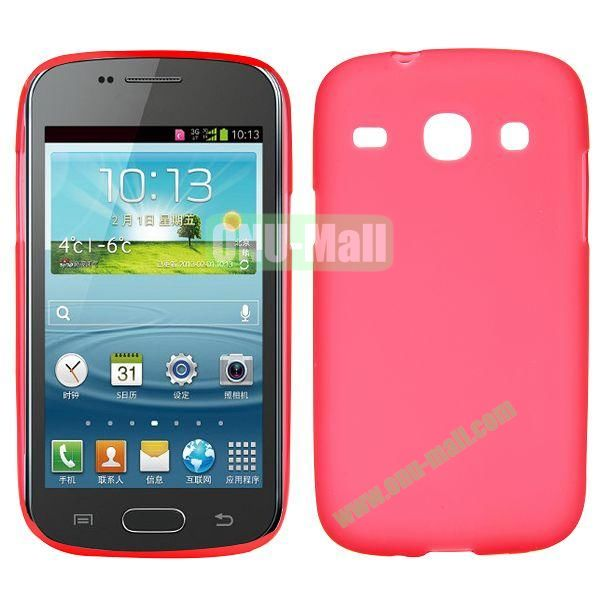 Frosted Design TPU Case For Samsung Galaxy Core i8260 i8262 (Red)