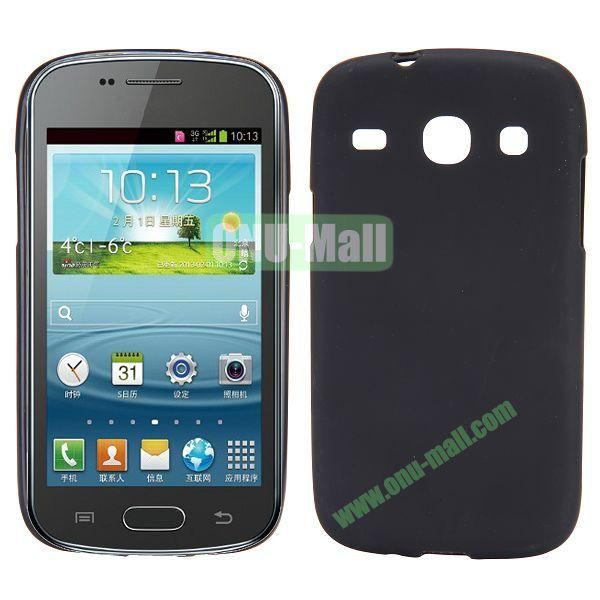 Frosted Design TPU Case For Samsung Galaxy Core i8260 i8262 (Black)