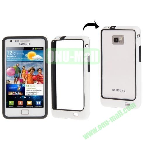 Plastic Bumper Frame with Keys for Samsung Galaxy S2  i9100 (White+Black)