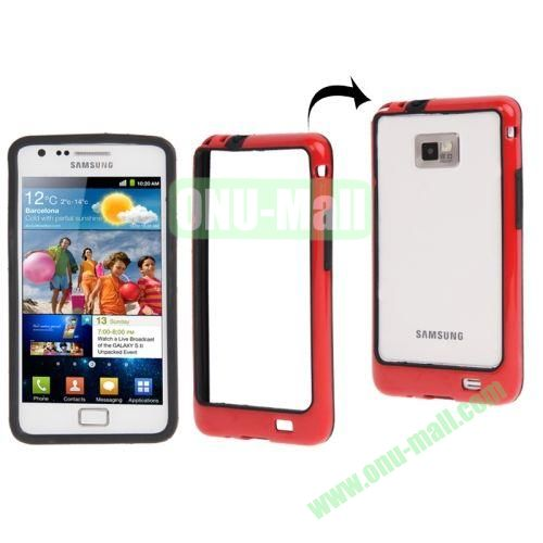 Plastic Bumper Frame with Keys for Samsung Galaxy S2  i9100 (Red+Black)