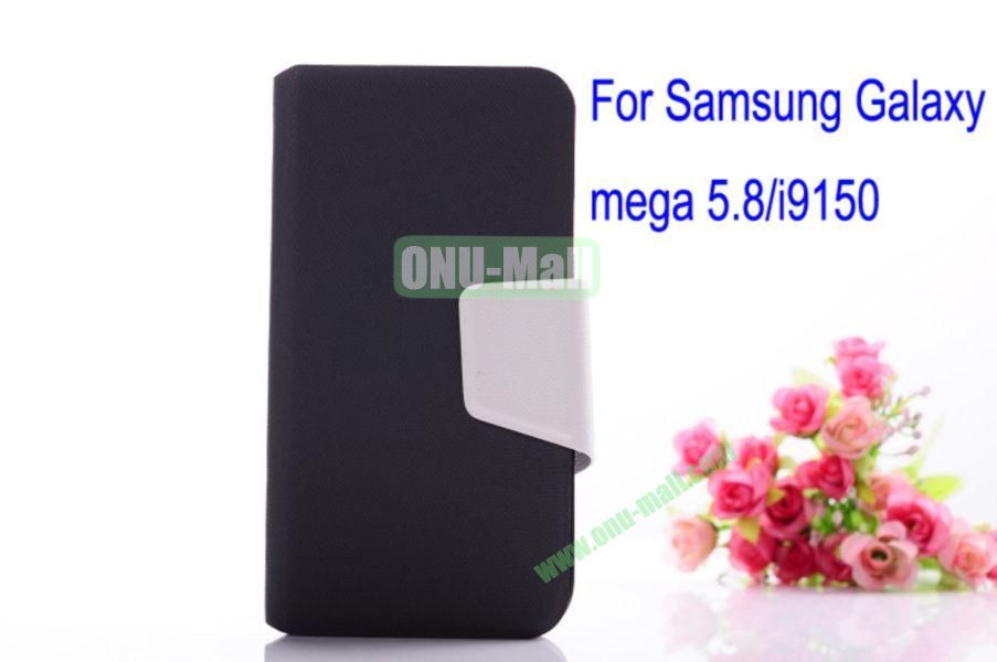 Litchi Lines Leather Case Cover for Samsung Galaxy Mega 5.8i9150 with magnet(Grey)