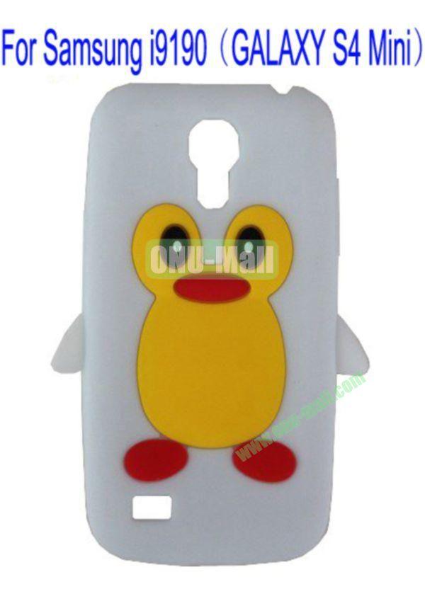 Cute Penguin Silicone Case Cover for Samsung i9190(GALAXY S4 Mini)(White)