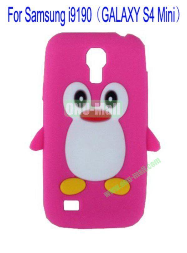 Cute Penguin Silicone Case Cover for Samsung i9190(GALAXY S4 Mini)(Rose)