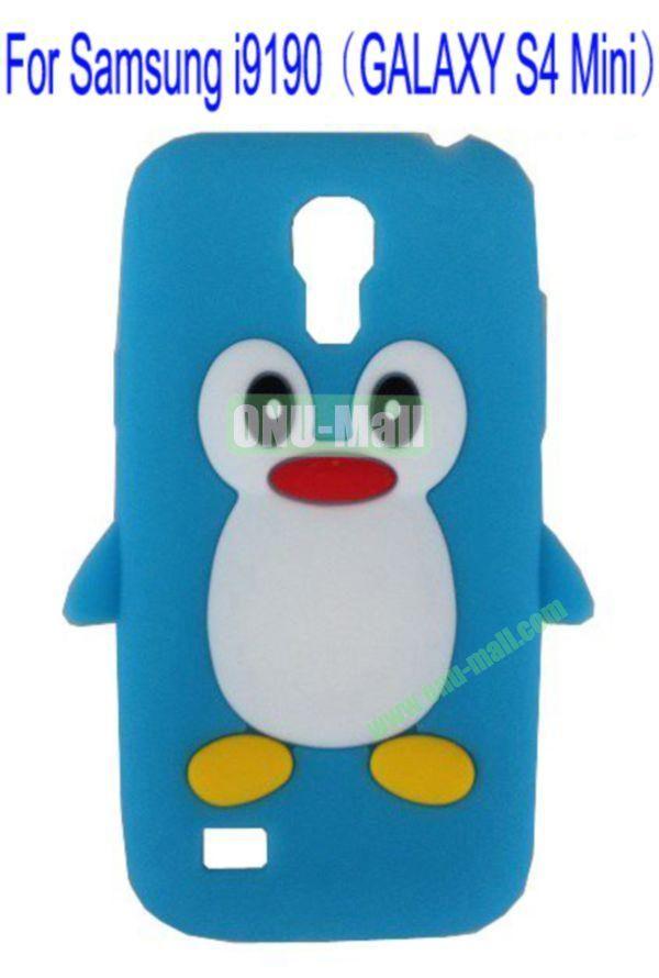 Cute Penguin Silicone Case Cover for Samsung i9190(GALAXY S4 Mini)(Blue)