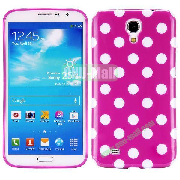 Polka Dots Pattern TPU Case For Samsung Galaxy Mega 6.3  I9200 (Purple+White)