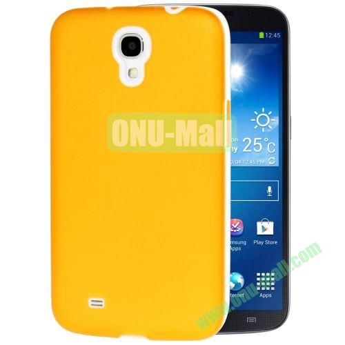 Transparent Frosted PC Frame+TPU Case For Samsung Galaxy Mega 6.3  I9200 (Yellow)