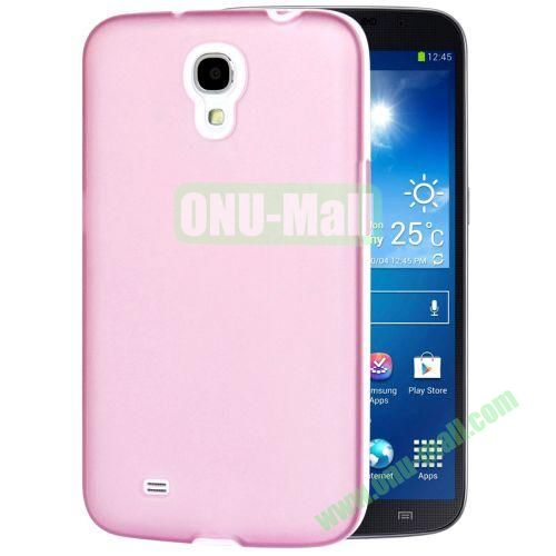 Transparent Frosted PC Frame+TPU Case For Samsung Galaxy Mega 6.3  I9200 (Light Pink)