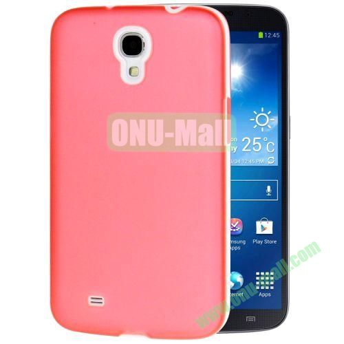 Transparent Frosted PC Frame+TPU Case For Samsung Galaxy Mega 6.3  I9200 (Pink)