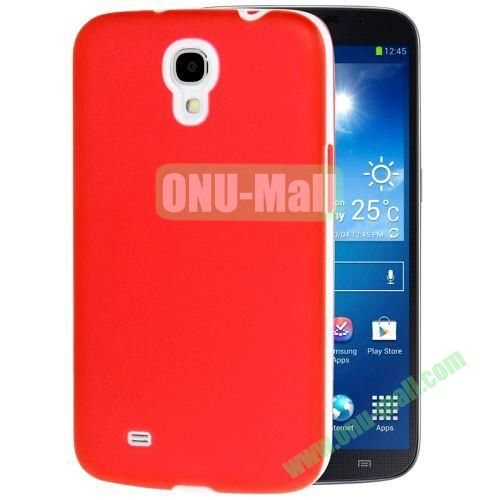 Transparent Frosted PC Frame+TPU Case For Samsung Galaxy Mega 6.3  I9200 (Red)