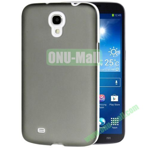 Transparent Frosted PC Frame+TPU Case For Samsung Galaxy Mega 6.3  I9200 (Grey)