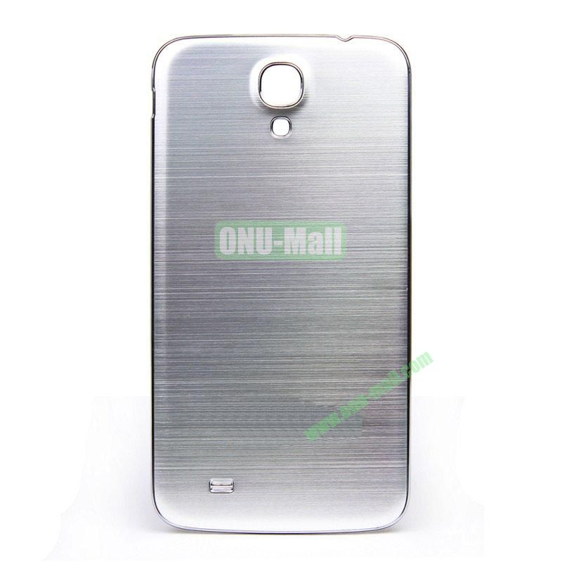 Newest Brushed Aluminum  Battery Back Cover Housing with  Electroplating Frame for  Samsung I9200 (Galaxy Mega 6.3)(Silver)