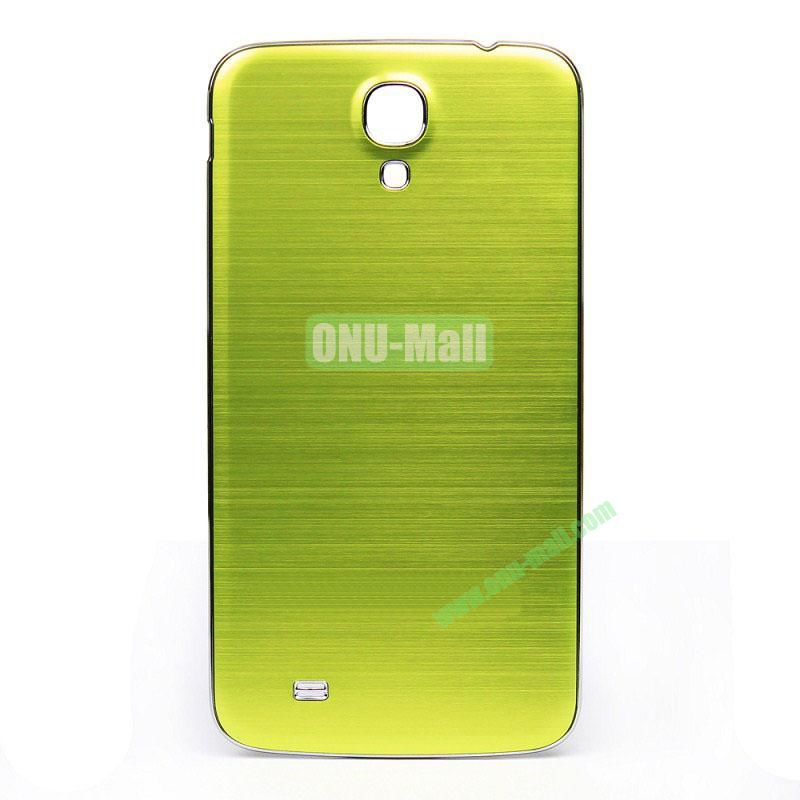 Newest Brushed Aluminum  Battery Back Cover Housing with  Electroplating Frame for  Samsung I9200 (Galaxy Mega 6.3)(Green)