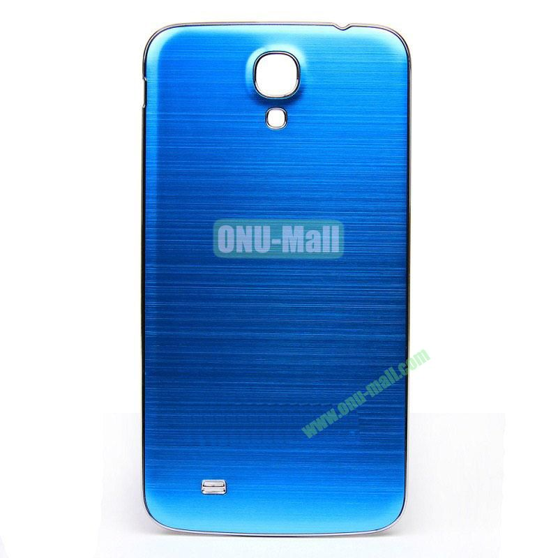 Newest Brushed Aluminum  Battery Back Cover Housing with  Electroplating Frame for  Samsung I9200 (Galaxy Mega 6.3)(Blue)