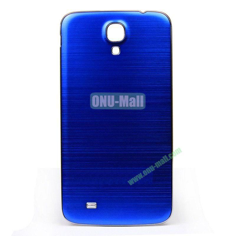 Newest Brushed Aluminum  Battery Back Cover Housing with  Electroplating Frame for  Samsung I9200 (Galaxy Mega 6.3)(Dark Blue)