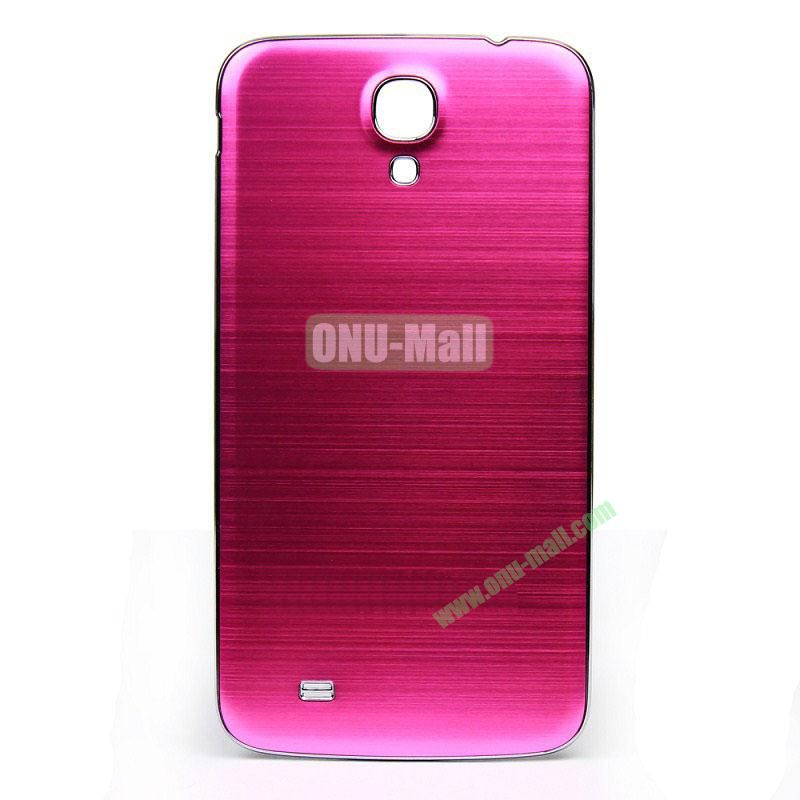 Newest Brushed Aluminum  Battery Back Cover Housing with  Electroplating Frame for  Samsung I9200 (Galaxy Mega 6.3)(Rose)