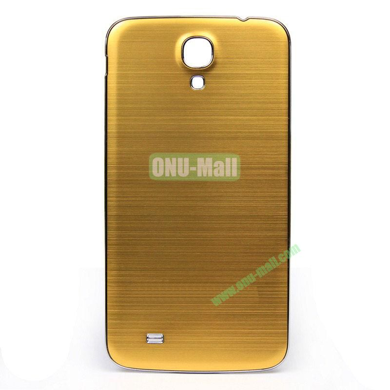 Newest Brushed Aluminum  Battery Back Cover Housing with  Electroplating Frame for  Samsung I9200 (Galaxy Mega 6.3)(Gold)