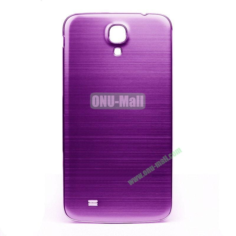 Newest Brushed Aluminum  Battery Back Cover Housing with  Electroplating Frame for  Samsung I9200 (Galaxy Mega 6.3)(Purple)