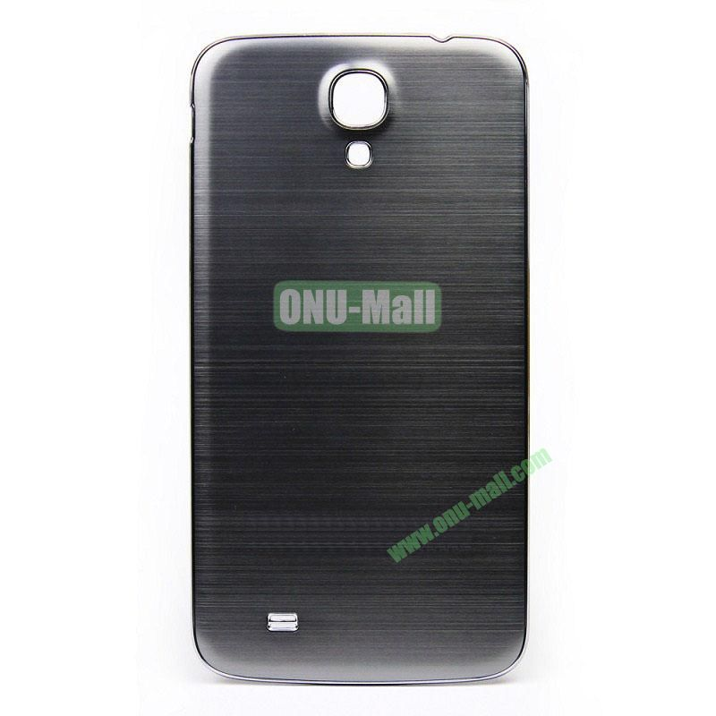 Newest Brushed Aluminum  Battery Back Cover Housing with  Electroplating Frame for  Samsung I9200 (Galaxy Mega 6.3)(Grey)