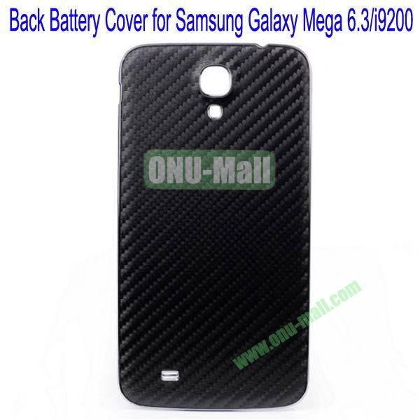 Mat Texture Back Battery Cover for Samsung Galaxy Mega 6.3i9200(Black)