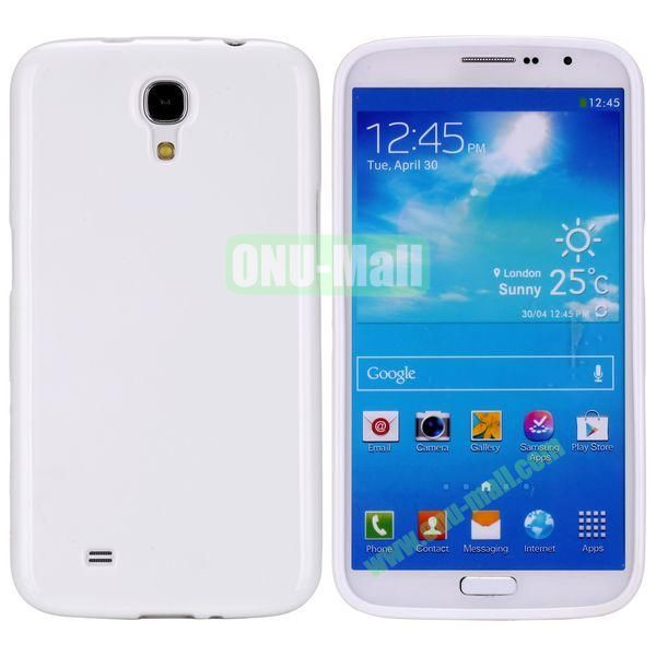 New Arrival Solid Color Flexible Jelly TPU Case For Samsung Galaxy Mega 6.3 i9200 (White)