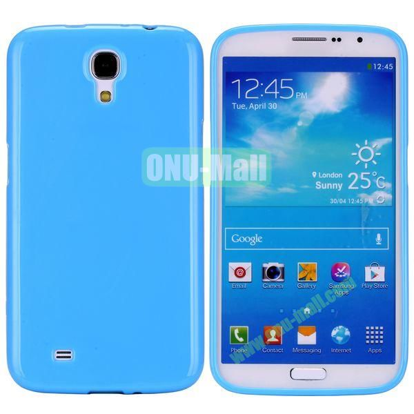New Arrival Solid Color Flexible Jelly TPU Case For Samsung Galaxy Mega 6.3 i9200 (Blue)