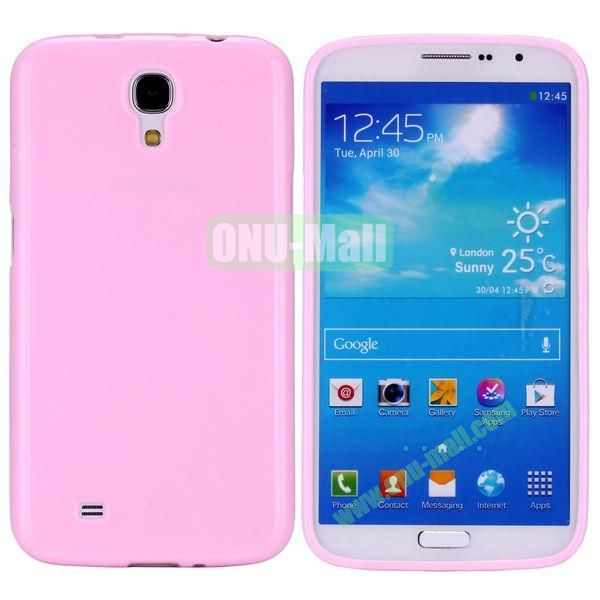 New Arrival Solid Color Flexible Jelly TPU Case For Samsung Galaxy Mega 6.3 i9200 (Pink)