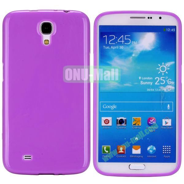 New Arrival Solid Color Flexible Jelly TPU Case For Samsung Galaxy Mega 6.3 i9200 (Purple)