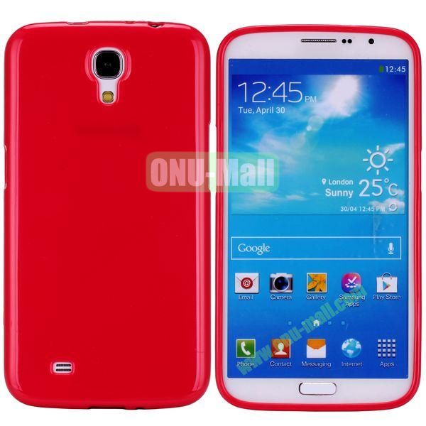 New Arrival Solid Color Flexible Jelly TPU Case For Samsung Galaxy Mega 6.3 i9200 (Red)
