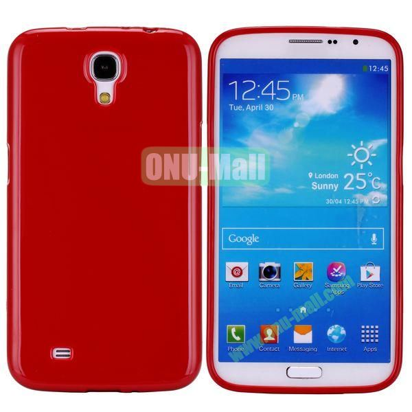 New Arrival Solid Color Flexible Jelly TPU Case For Samsung Galaxy Mega 6.3 i9200 (Magenta)