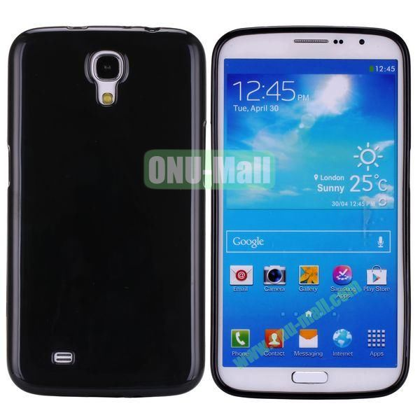 New Arrival Solid Color Flexible Jelly TPU Case For Samsung Galaxy Mega 6.3 i9200 (Black)