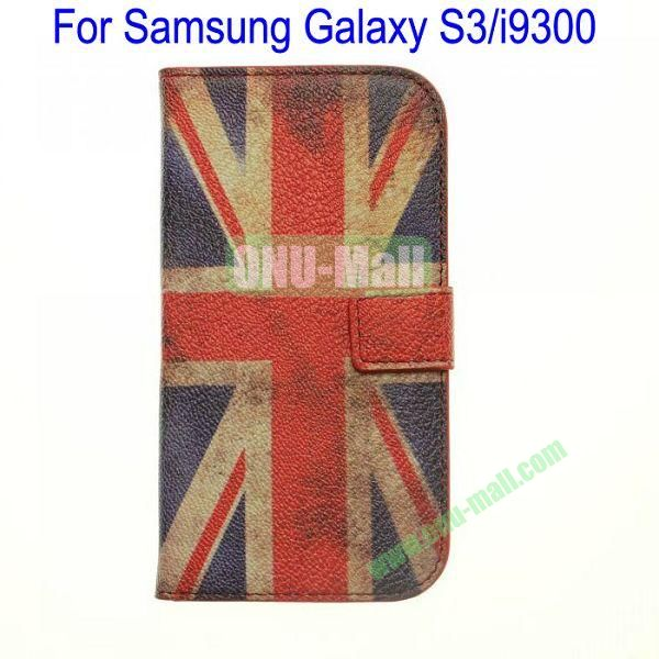 Retro UK Flag Leather Case for Samsung Galaxy S3i9300