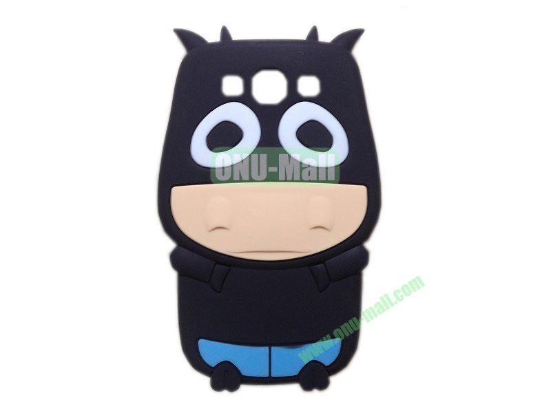 Cute Cow Cartoon Silicone Case for Samsung Galaxy S3i9300(Black)