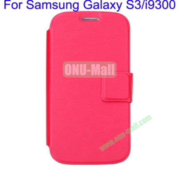 Ultrathin Magnetic Folio Stand Dormancy Case Cover for Samsung Galaxy S3i9300(Red)