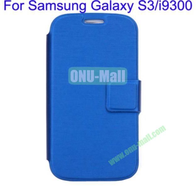 Ultrathin Magnetic Folio Stand Dormancy Case Cover for Samsung Galaxy S3i9300(Blue)