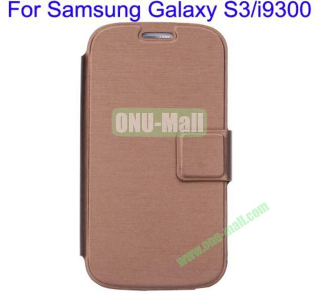 Ultrathin Magnetic Folio Stand Dormancy Case Cover for Samsung Galaxy S3i9300(Brown)