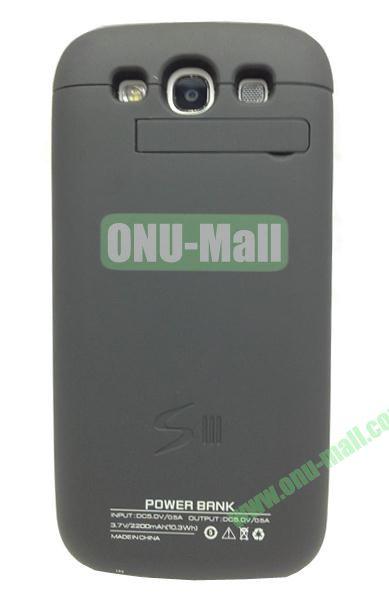 2200mAh Power Back Case External Battery for Samsung Galaxy S3i9300(Black)