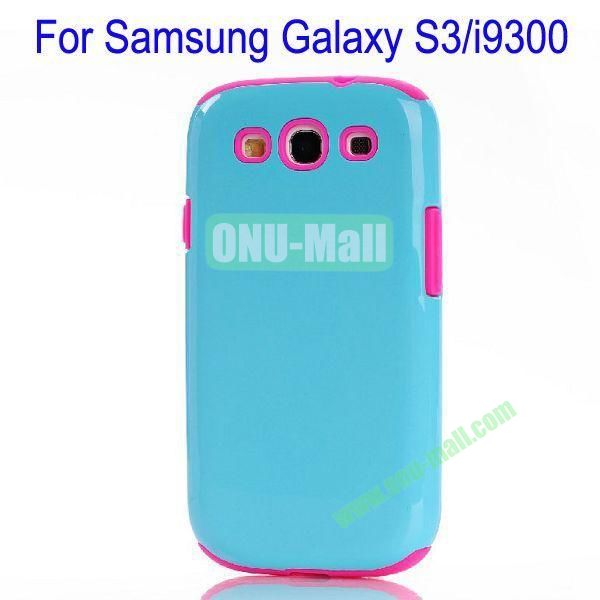 Fashion Silicon+TPU Glossy Case Cover for Samsung Galaxy S3i9300(Rose+Purple)