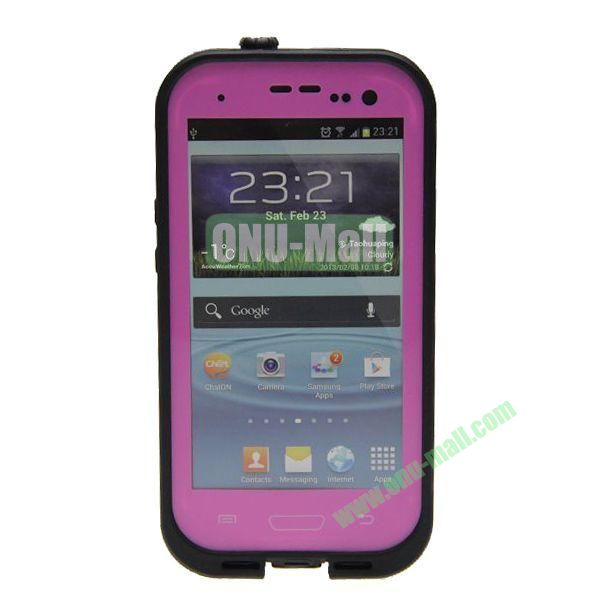 High Quality Sealed Waterproof Protective Case for Samsung Galaxy S3i9300(Rose)