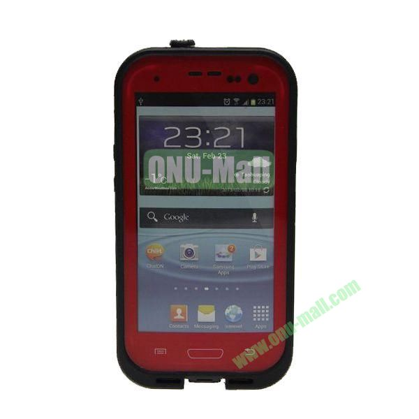 High Quality Sealed Waterproof Protective Case for Samsung Galaxy S3i9300(Red)